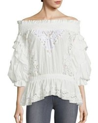 Faith Connexion Ruffled Off The Shoulder Top