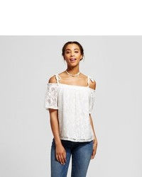 Soul Cake Lace Off The Shoulder Short Sleeve Top Soul Cake