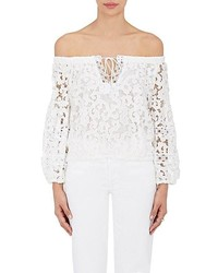 Temptation Positano Temptation Positano Dalia Stretch Lace Off The Shoulder Crop Top