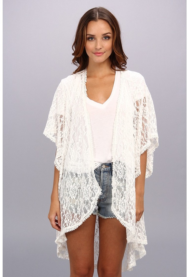 Brigitte Bailey Happy Place Lace Kimono | Where to buy & how to wear
