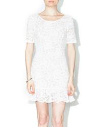 Bonded ivory lace dress medium 356908