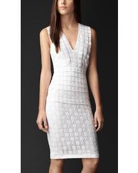Burberry English Lace Sheer Back Dress