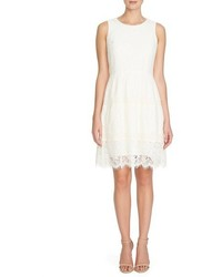 Cece by cynthia steffe cece olivia lace fit flare dress size 10 white medium 356889