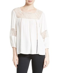 Joie Bellange Lace Trim Blouse