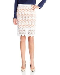 Rebecca Minkoff Angelica Floral Lace Pencil Skirt