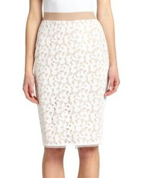 BCBGMAXAZRIA Bess Lace Back Zip Skirt