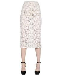 Burberry Cotton Lace Organza Pencil Skirt