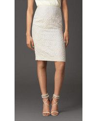 Burberry Lace Jacquard Pencil Skirt
