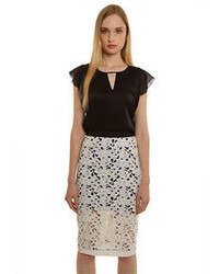 Cluny Lace Pencil Skirt