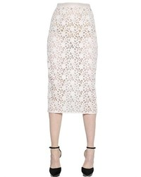 Burberry Cotton Lace Organza Pencil Skirt