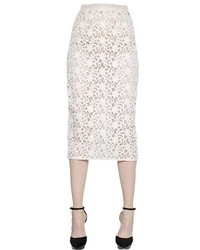 Cotton lace organza pencil skirt medium 371158