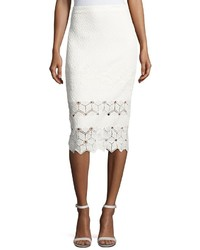 Diamond lace pencil skirt white medium 3756824