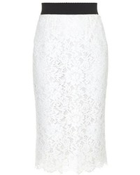 Dolce & Gabbana Cordonetto Lace Pencil Skirt