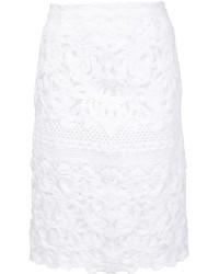 Ermanno Scervino Lace Pencil Skirt