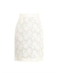 Giambattista Valli Floral Macram Lace Pencil Skirt