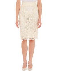 Dolce & Gabbana Floral Macram Pencil Skirt