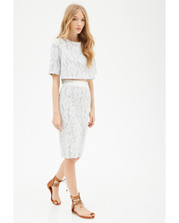 Forever 21 Floral Lace Pencil Skirt
