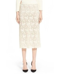 Nina Ricci Guipure Lace Pencil Skirt