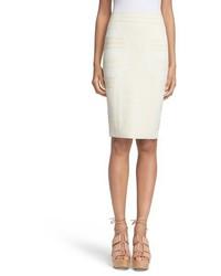 Alexander McQueen Jacquard Pencil Skirt