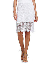 Kensie Lace Pencil Skirt
