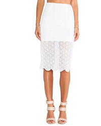 BCBGeneration Lace Pencil Skirt