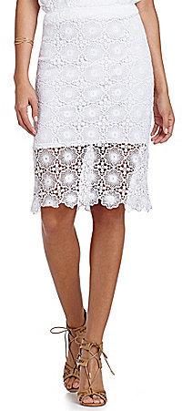 Kensie Lace Pencil Skirt