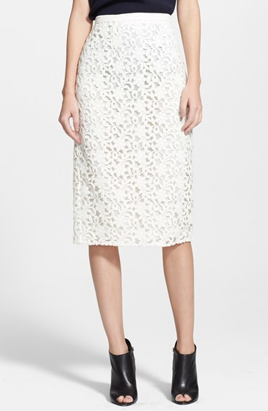 d4504c5426 Burberry London Guipure Lace Long Pencil Skirt, $1,495 | Nordstrom |  Lookastic.com