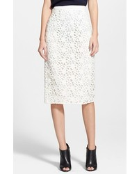 Burberry London Guipure Lace Long Pencil Skirt