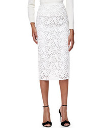 Burberry London Lace Midi Length Pencil Skirt