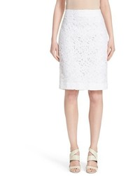 Kate Spade New York Floral Lace Pencil Skirt