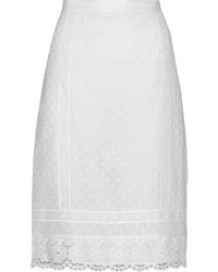 Oscar de la Renta Crocheted Lace Skirt
