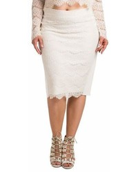 Standards practices tori lace overlay pencil skirt medium 6986403