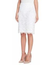 Tahari Arthur S Levine Lace Pencil Skirt