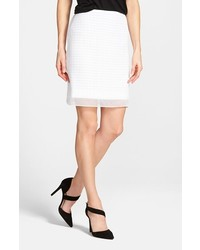 Vince Camuto Organza Overlay Lace Miniskirt