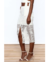 Endless Rose White Lace Skirt
