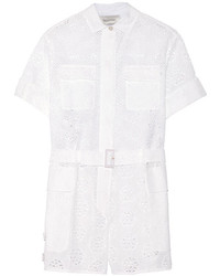 Valentino Broderie Anglaise Cotton Blend Playsuit