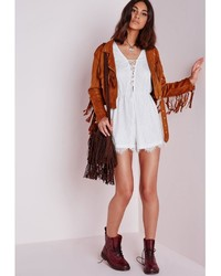 b19c8b83abd3 ... Missguided Lace Long Sleeve Romper White