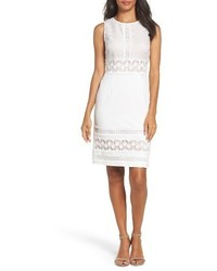 Adrianna Papell Lace Crepe Sheath Dress