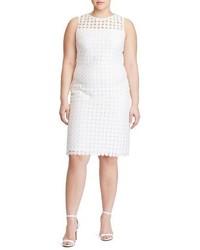 Lauren Ralph Lauren Plus Size Dot Lace Sheath Dress