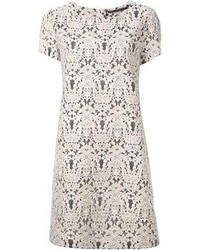 Ermanno Scervino Floral Lace Shift Dress