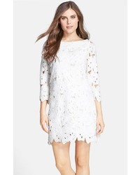 Floral lace shift dress medium 239255