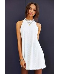 Oh My Love Lace Frill Collar Sleeveless Shift Dress