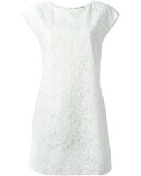 Saint Laurent Floral Lace Shift Dress