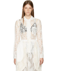 Comme des Garcons Comme Des Garons Comme Des Garons Off White Lace Collared Shirt