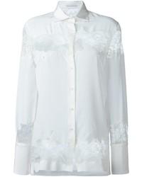 Ermanno Scervino Cut Out Lace Shirt