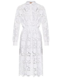 White Lace Shirtdress