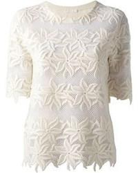 Chloé Floral Lace T Shirt