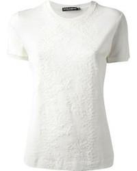 Dolce & Gabbana Floral Lace T Shirt