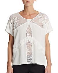 Madison Marcus Harmony Lace Inset Top