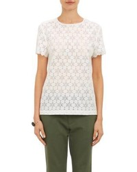 Band Of Outsiders Scalloped Lace Voile Blouse